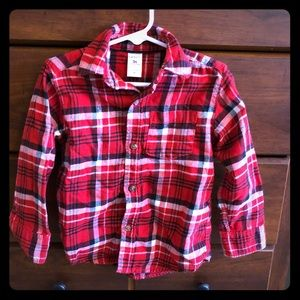 Carters Flannel Button Down Shirt